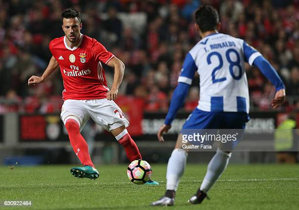 Benfica's midfielder from Greece Andreas Samaris in action during the Primeira Liga match between SL Benfica and FC Vizela at Estadio da Luz on...