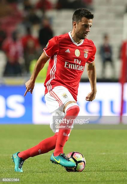 Benfica's midfielder from Greece Andreas Samaris in action during the Primeira Liga match between SL Benfica and FC Vizela at Estadio da Luz on...