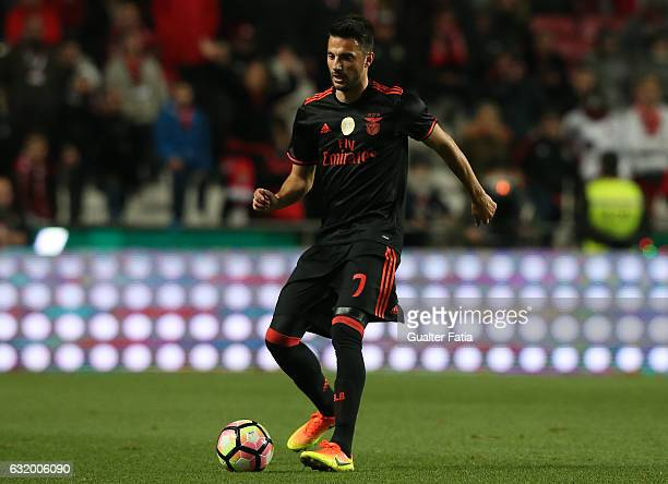 Benfica's midfielder from Greece Andreas Samaris in action during the Portuguese Cup match between SL Benfica and Leixoes at Estadio da Luz on...