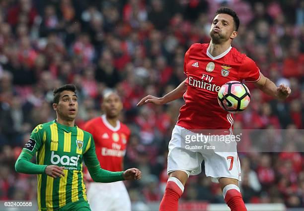 Benfica's midfielder from Greece Andreas Samaris in action during the Primeira Liga match between SL Benfica and CD Tondela at Estadio da Luz on...