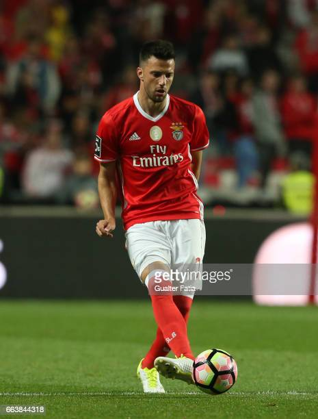 Benfica's midfielder from Greece Andreas Samaris in action during the Primeira Liga match between SL Benfica and FC Porto at Estadio da Luz on April...