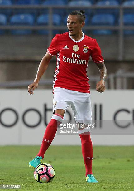 Benfica's midfielder from Serbia Ljubomir Fejsa in action during the Algarve Football Cup Pre Season Friendly match between SL Benfica and Vitoria...