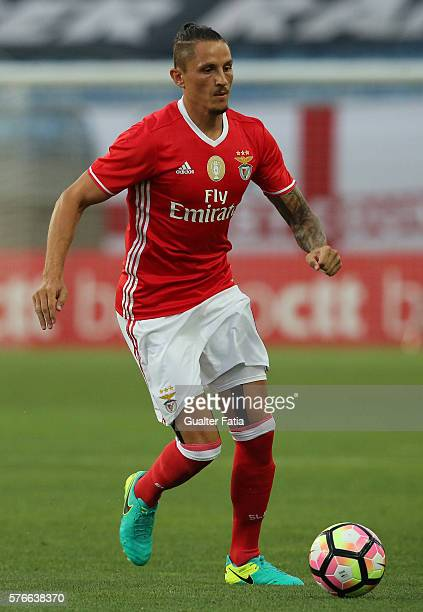 Benfica's midfielder from Serbia Ljubomir Fejsa in action during the Algarve Football Cup Pre Season Friendly match between SL Benfica and Derby...