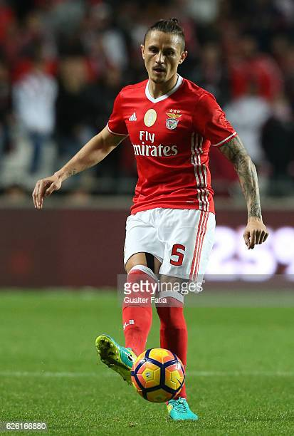 Benfica's midfielder from Serbia Ljubomir Fejsa in action during the Primeira Liga match between SL Benfica and Moreirense FC at Estadio da Luz on...