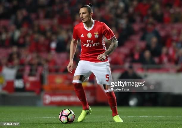 Benfica's midfielder from Serbia Ljubomir Fejsa in action during the Primeira Liga match between SL Benfica and FC Arouca at Estadio da Luz on...