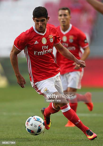 Benfica's midfielder Goncalo Guedes in action during the Eusebio Cup match between SL Benfica and Torino at Estadio da Luz on July 27 2016 in Lisbon...