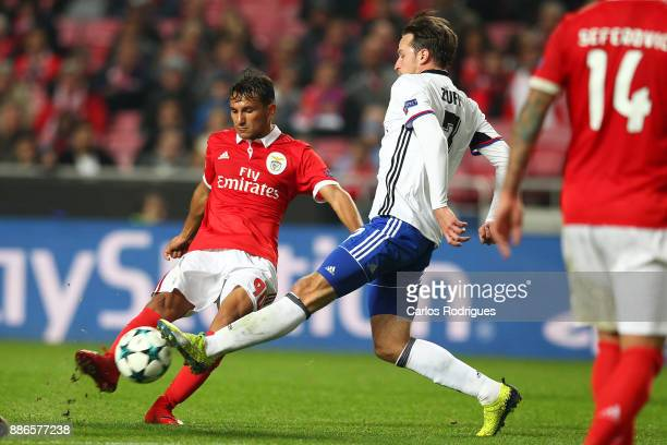 Benfica's midfielder Joao Carvalho from Portugal during SL Benfica v FC Basel UEFA Champions League round six match at Estadio da Luz on December 05...