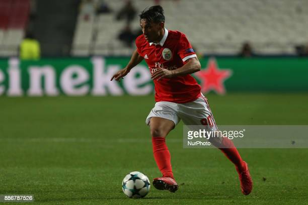 Benficas midfielder Joao Carvalho from Portugal during the match between SL Benfica v FC Basel UEFA Champions League playoff match at Luz Stadium on...