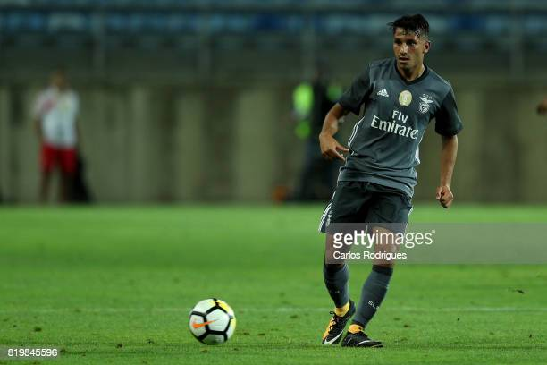 Benfica's midfielder Joao Carvalho from Portugal during the PreSeason Algarve Cup match between SL Benfica and Real Betis FC at Estadio do Algarve on...