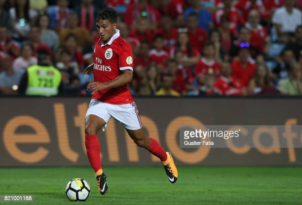 Benfica's midfielder Joao Carvalho from Portugal in action during the Algarve Cup match between SL Benfica and Hull City at Estadio Algarve on July...