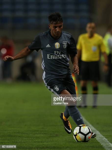 Benfica's midfielder Joao Carvalho from Portugal in action during the Algarve Cup match between SL Benfica and Real Betis at Estadio Algarve on July...