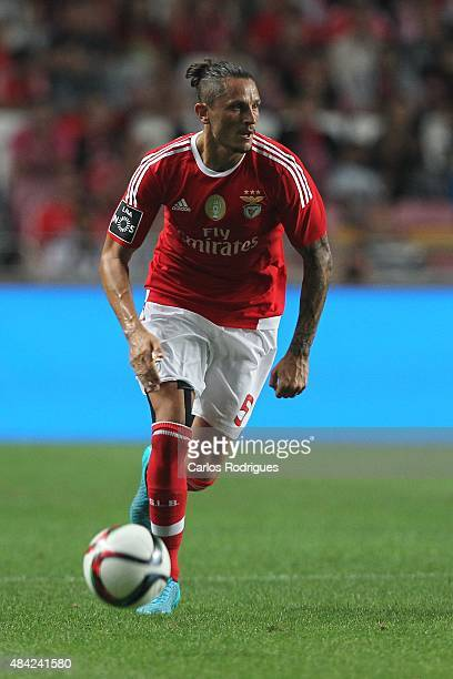 Benfica's midfielder Ljubomir Fejsa during the match between SL Benfica and Estoril Praia at Estadio da Luz on August 16 2015 in Lisbon Portugal