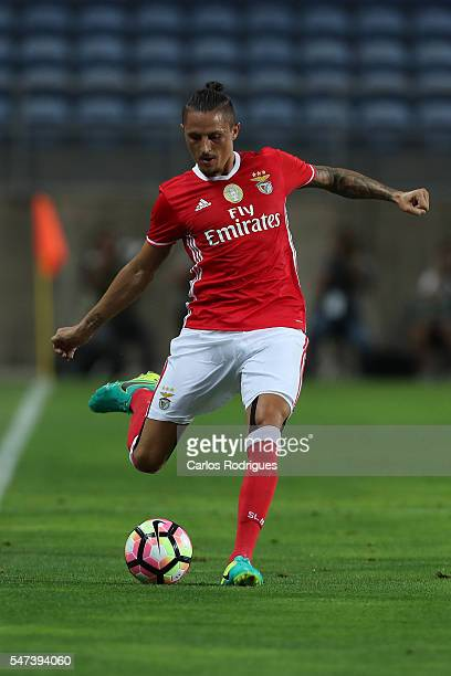 Benfica's midfielder Ljubomir Fejsa during the Pre Season match between SL Benfica and Vitoria Setubal at Estadio do Algarve on July 14 2016 in Faro...