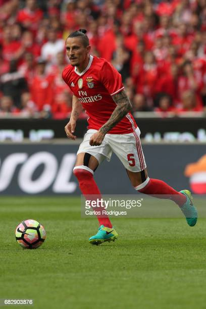 Benfica's midfielder Ljubomir Fejsa from Serbia during the match between SL Benfica and Vitoria SC for the Portuguese Primeira Liga at Estadio da Luz...