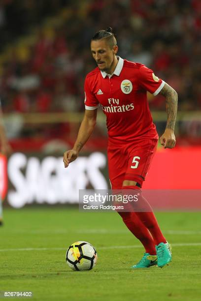 Benfica's midfielder Ljubomir Fejsa from Serbia during the match between SL Benfica and VSC Guimaraes at Estadio Municipal de Aveiro on August 05...