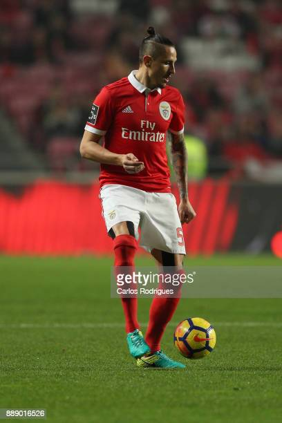 Benfica's midfielder Ljubomir Fejsa from Serbia during the match between SL Benfica and Estoril Praia SAD for the Portuguese Primeira Liga at Estadio...