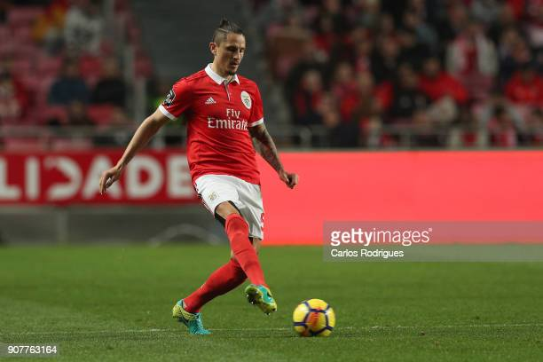 Benfica's midfielder Ljubomir Fejsa from Serbia during the match between SL Benfica and GD Chaves for the Portuguese Primeira Liga at Estadio da Luz...