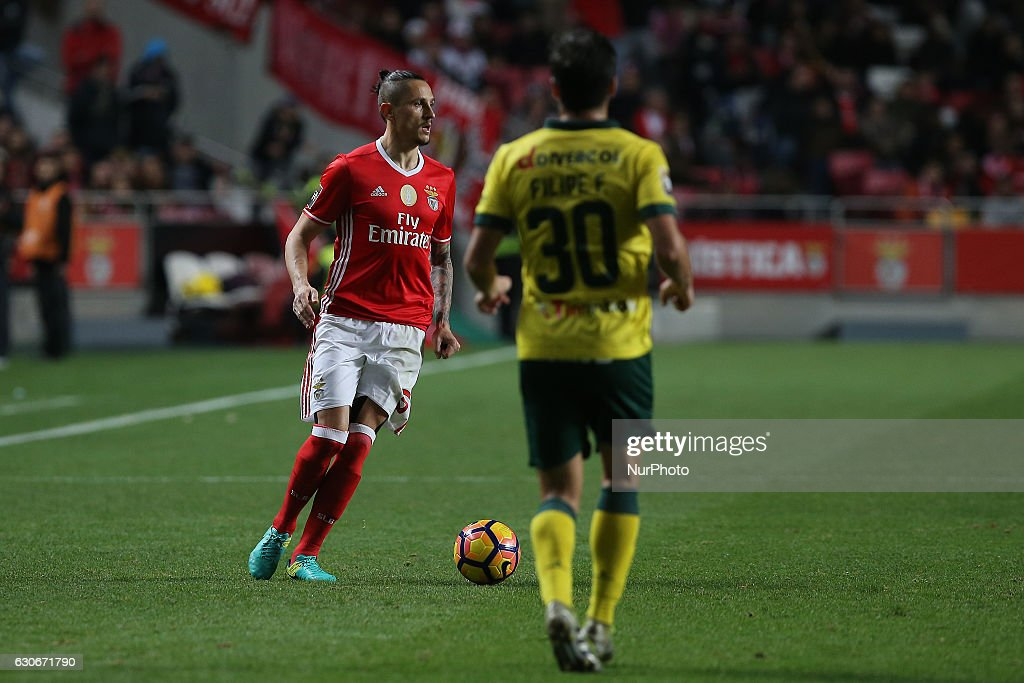 Benficas midfielder Ljubomir Fejsa from Serbia during the Portuguese Cup 2016/17 match between SL Benfica v FC Pacos Ferreira, at Luz Stadium in Lisbon on December 29, 2016.