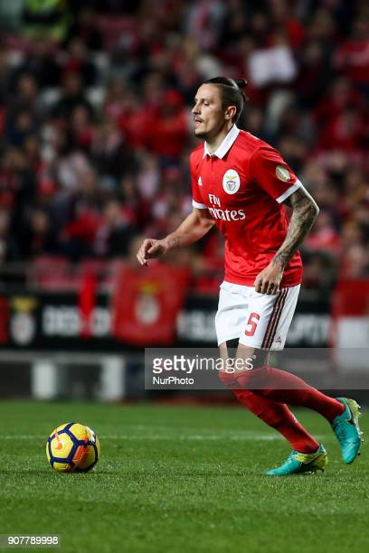 Benfica's midfielder Ljubomir Fejsa in action during the Portuguese League football match between SL Benfica and GD Chaves at Luz Stadium in Lisbon...