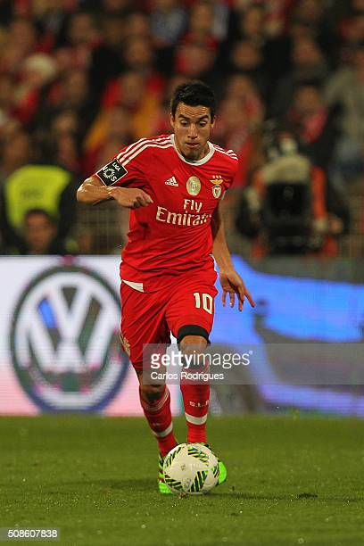 Benfica's midfielder Nicolas Gaitan during the match between Os Belenenses and SL Benfica at Estadio do Restelo on February 05 2016 in Lisbon Portugal