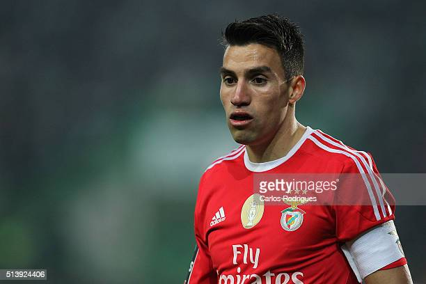 Benfica's midfielder Nicolas Gaitan during the match between Sporting CP and SL Benfica for the Portuguese Primeira Liga at Jose Alvalade Stadium on...