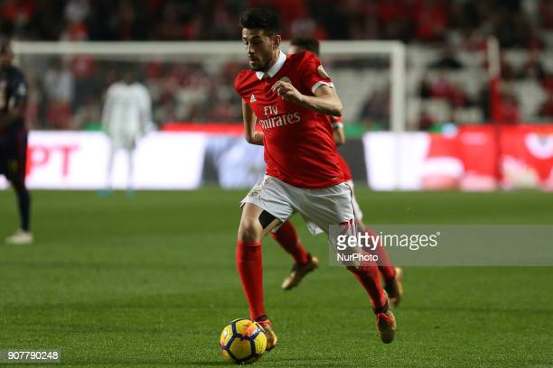 Benficas midfielder Pizzi from Portugal during the Premier League 2017/18 match between SL Benfica v GD Chaves at Luz Stadium in Lisbon on January 20...