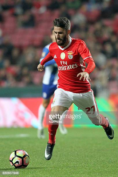 Benfica's midfielder Rafa Silva in action during the Portuguese League Cup football match SL Benfica vs FC Vizela at the Luz stadium in Lisbon...