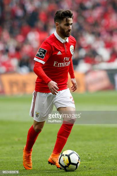 Benfica's midfielder Rafa Silva in action during the Portuguese League football match between SL Benfica and Tondela at Luz Stadium in Lisbon on...