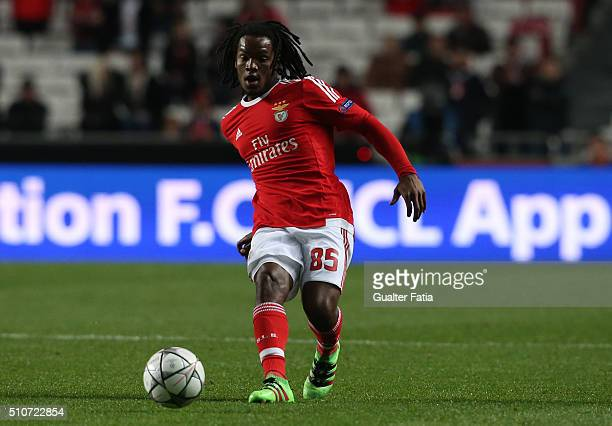 BenficaÕs midfielder Renato Sanches in action during the UEFA Champions League Round of 16 First Leg match between SL Benfica and FC Zenit at Estadio...