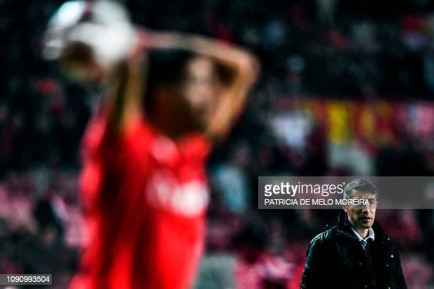 TOPSHOT Benfica's Portuguese coach Bruno Lage attends the Portuguese League football match between SL Benfica and Boavista FC at the Luz stadium in...