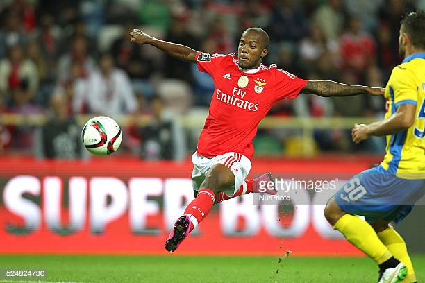 Benfica's Portuguese defender Nelson Semedo in action during the Premier League 2015/16 match between FC Arouca and SL Benfica at Municipal Aveiro...