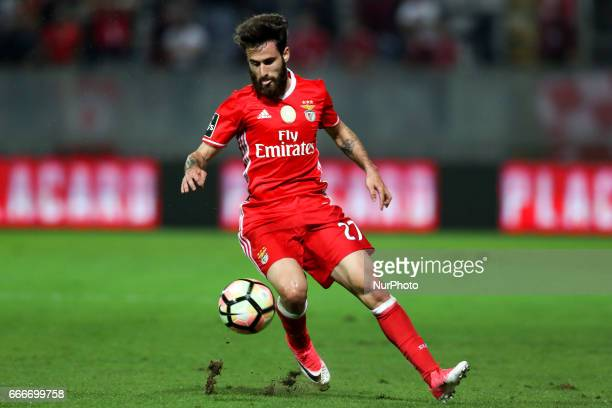 Benfica's Portuguese forward Rafa Silva in action during the Premier League 2016/17 match between Moreirense FC and SL Benfica at Parque Desportivo...