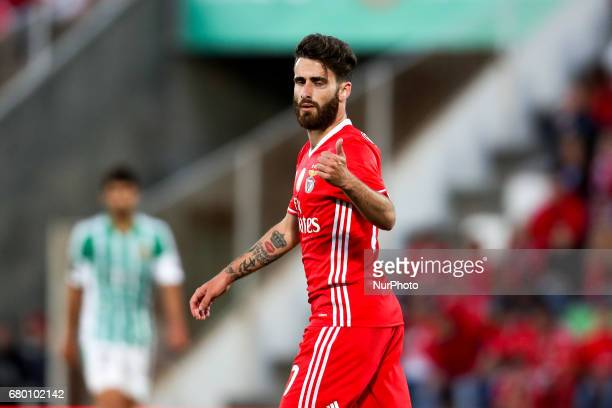 Benfica's Portuguese forward Rafa Silva reacts during the Premier League 2016/17 match between Rio Ave and SL Benfica at Arcos Stadium in Vila do...