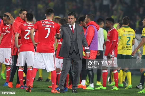 Benfica's Portuguese head coach Rui Vitoria during the Premier League 2016/17 match between Pacos Ferreira and SL Benfica at Mata Real Stadium in...
