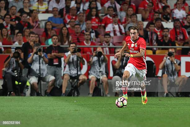 Benfica's Portuguese midfielder Andre Horta during the match between SL Benfica and Vitoria Setubal FC for the Portuguese Primeira Liga at Estadio da...