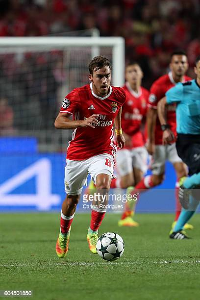 Benfica's Portuguese midfielder Andre Horta during the UEFA Champions League Match between SL Benfica vs Besiktas JK at Estadio da Luz on September...