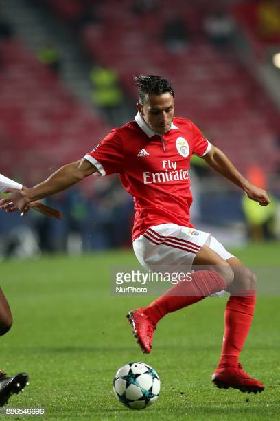 Benfica's Portuguese midfielder Joao Carvalho in action during the UEFA Champions League Group A football match between SL Benfica and FC Basel at...