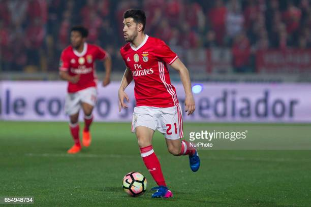 Benfica's Portuguese midfielder Pizzi during the Premier League 2016/17 match between Pacos Ferreira and SL Benfica at Mata Real Stadium in Pacos de...
