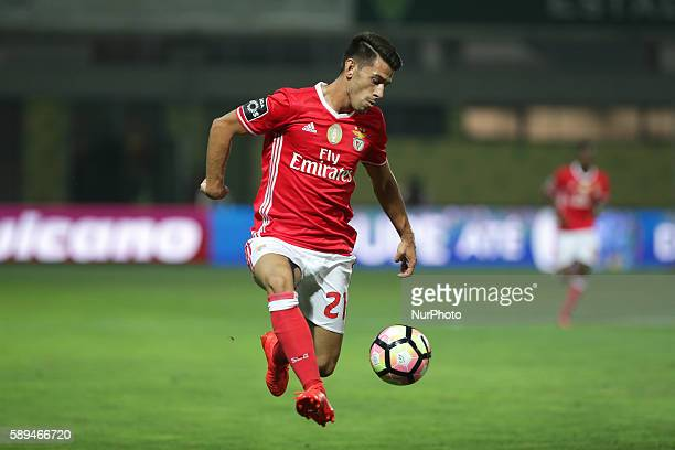 Benfica's Portuguese midfielder Pizzi in action during the Premier League 2016/17 match between CD Tondela and SL Benfica at Joao Cardoso Stadium in...
