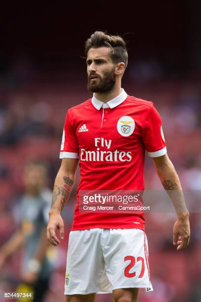 Benficas Rafa Silva during the Emirates Cup match between RB Leipzig and SL Benfica at Emirates Stadium on July 30 2017 in London England