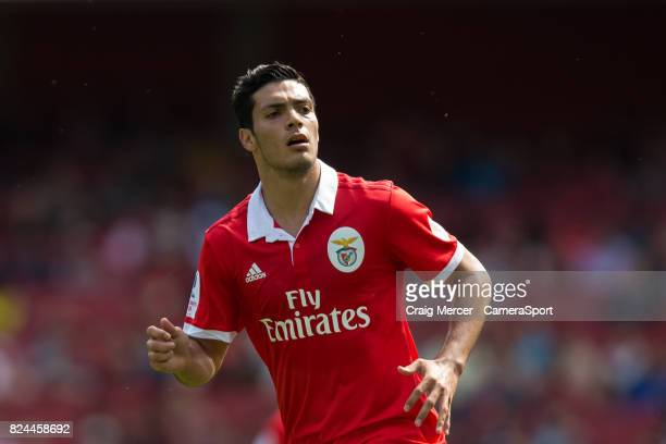 Benficas Raul Jimenez during the Emirates Cup match between RB Leipzig and SL Benfica at Emirates Stadium on July 30 2017 in London England