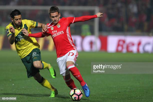 Benfica's Serbian forward Andrija Zivkovic during the Premier League 2016/17 match between Pacos Ferreira and SL Benfica at Mata Real Stadium in...