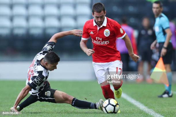 Benfica's Serbian forward Andrija Zivkovic during the Premier League 2017/18 match between Boavista FC and SL Benfica at Bessa XXI Stadium in Porto...