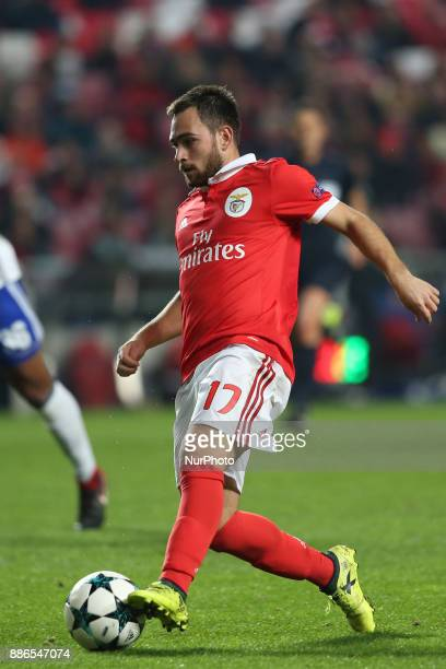 Benfica's Serbian midfielder Andrija Zivkovic in action during the UEFA Champions League Group A football match between SL Benfica and FC Basel at...
