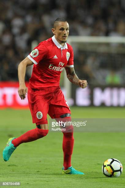 Benfica's Serbian midfielder Ljubomir Fejsa in action during the Candido Oliveira Super Cup match between SL Benfica and Vitoria Guimaraes at...