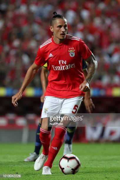 Benfica's Serbian midfielder Ljubomir Fejsa in action during the UEFA Champions League 3rd Qualifying Round first leg match Benfica vs Fenerbahce at...