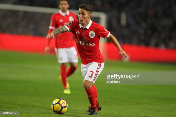 Benfica's Spanish defender Alex Grimaldo during the Premier League 2016/17 match between FC Porto and SL Benfica at Dragao Stadium in Porto on...