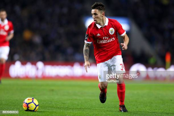 Benfica's Spanish defender Alex Grimaldo in action during the Premier League 2016/17 match between FC Porto and SL Benfica at Dragao Stadium in Porto...