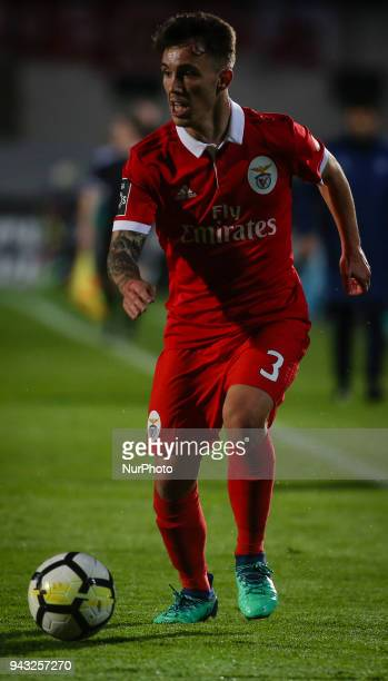 Benfica's Spanish midfielder Alex Grimaldo in in action during the Portuguese League football match between Vitoria FC and SL Benfica at Bonfim...