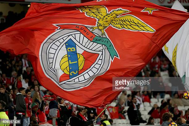 Benficas supporters celebrating during Premier League 2016/17 match between SL Benfica and Moreirense FC at Estadio da Luz in Lisbon on November 27...